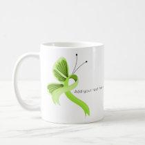 Lime Green Awareness Ribbon Butterfly Coffee Mug