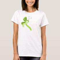 Lime Green Awareness Ribbon Butterfly T-Shirt