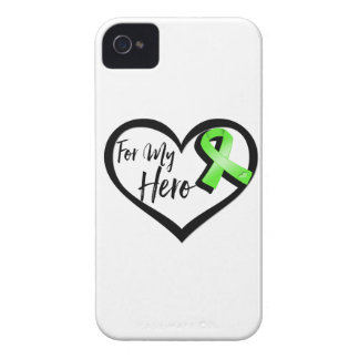 Lime Green Awareness Ribbon For My Hero iPhone 4 Case