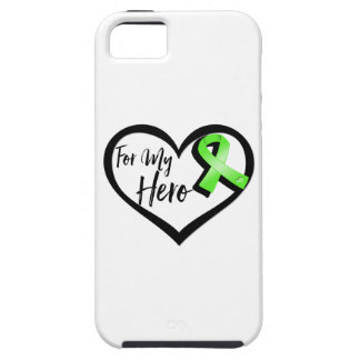 Lime Green Awareness Ribbon For My Hero iPhone SE/5/5s Case