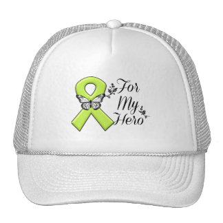 Lime Green Awareness Ribbon For My Hero Trucker Hat