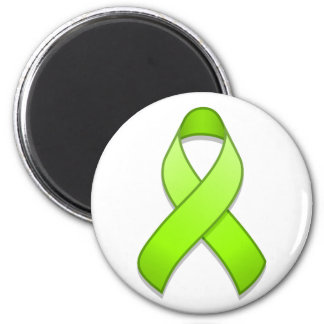 Lime Green Awareness Ribbon Magnet