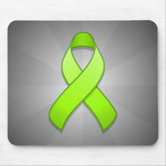 Lime Green Awareness Ribbon Mousepad