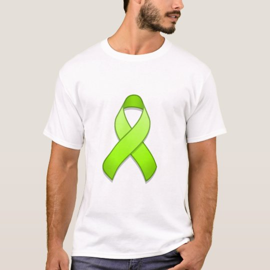 Lime Green Awareness Ribbon T-Shirt