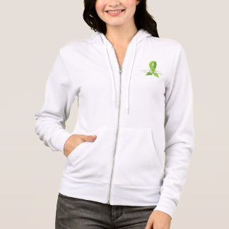 Lime Green Awareness Ribbon with Swans Hoodie