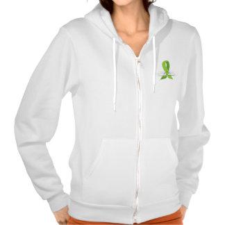 Lime Green Awareness Ribbon with Swans Sweatshirt
