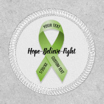 Lime Green Awareness Ribbon Your Custom Text Patch
