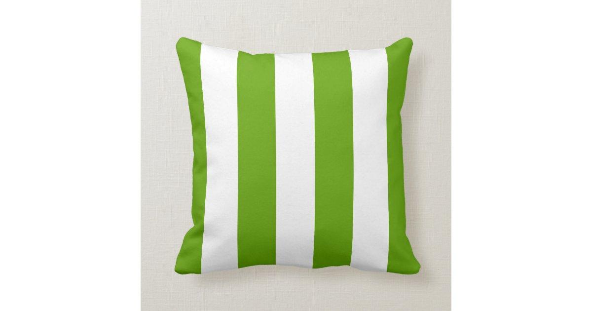 Lime Green Awning Stripe Throw Pillow Zazzle
