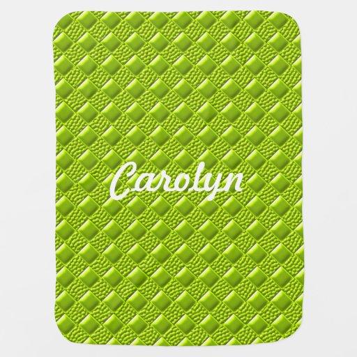 lime green baby blankets zazzle. Black Bedroom Furniture Sets. Home Design Ideas