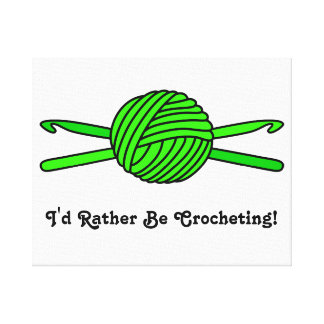Lime Green Ball of Yarn & Crochet Hooks Canvas Print