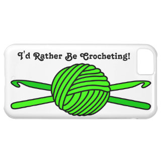 Lime Green Ball of Yarn & Crochet Hooks iPhone 5C Cases