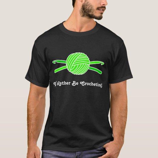 Lime Green Ball of Yarn & Crochet Hooks T-Shirt
