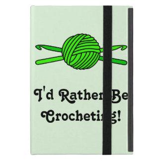 Lime Green Ball of Yarn & Crochet Hooks -Version 2 Cover For iPad Mini