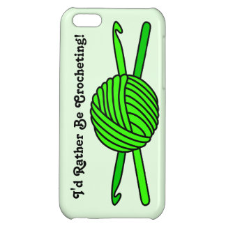 Lime Green Ball of Yarn & Crochet Hooks -Version 2 iPhone 5C Cover
