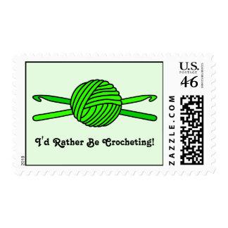 Lime Green Ball of Yarn & Crochet Hooks -Version 2 Stamps