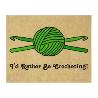 Lime Green Ball of Yarn & Crochet Hooks -Version 2 Cork Paper Print
