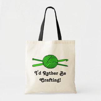 Lime Green Ball of Yarn (Knit & Crochet) Canvas Bag