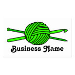 Lime Green Ball of Yarn (Knit & Crochet) Business Cards