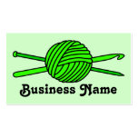 Lime Green Ball of Yarn (Knit & Crochet) Business Card