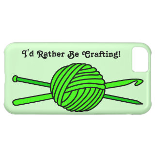 Lime Green Ball of Yarn (Knit & Crochet) iPhone 5C Case