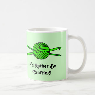 Lime Green Ball of Yarn (Knit & Crochet) Coffee Mug
