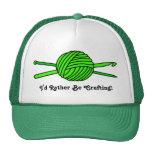 Lime Green Ball of Yarn (Knit & Crochet) Hats