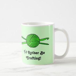 Lime Green Ball of Yarn (Knit & Crochet) Coffee Mugs