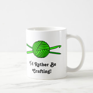 Lime Green Ball of Yarn (Knit & Crochet) Mugs