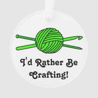 Lime Green Ball of Yarn (Knit & Crochet) Ornament