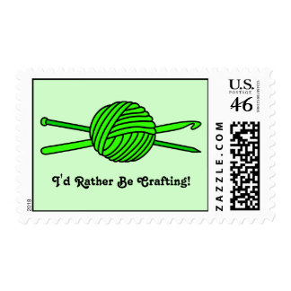 Lime Green Ball of Yarn (Knit & Crochet) Stamps