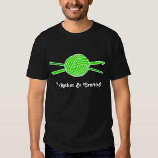 Lime Green Ball of Yarn (Knit & Crochet) T-shirt