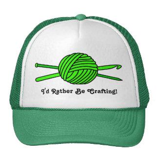 Lime Green Ball of Yarn (Knit & Crochet) Trucker Hat