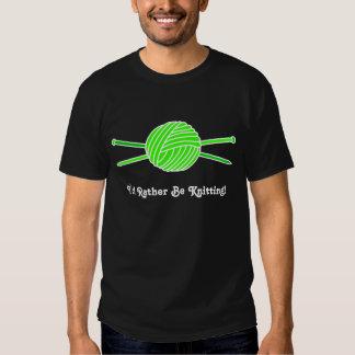 Lime Green Ball of Yarn & Knitting Needles T Shirt