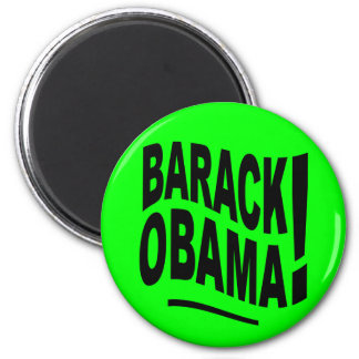 Lime Green Barack Obama Magnet