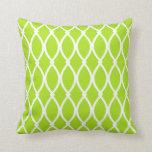 Lime Green Barcelona Print Throw Pillow