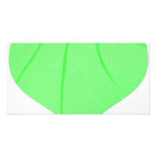 Lime Green Basketball Card