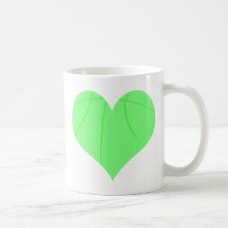 Lime Green Basketball Coffee Mug