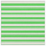 [ Thumbnail: Lime Green & Beige Stripes Pattern Fabric ]