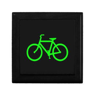 Lime Green Bike Trinket Boxes