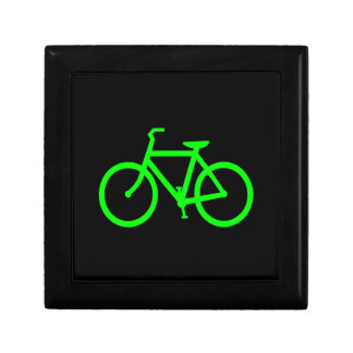 Lime Green Bike Jewelry Box