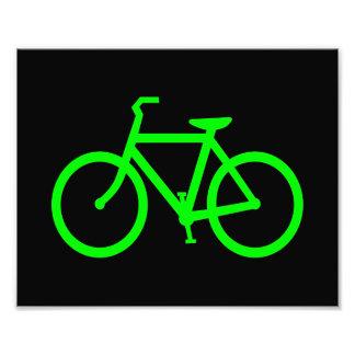 Lime Green Bike Photo Print