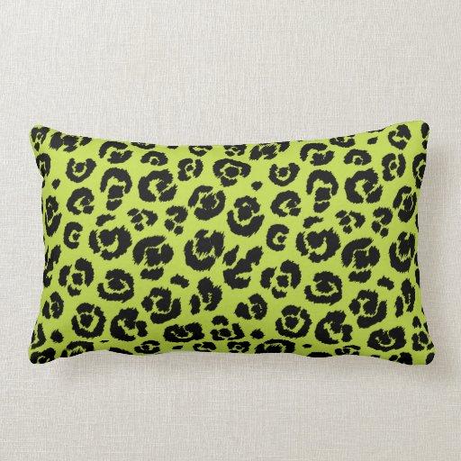 Lime Green Black Leopard Print Throw Pillow Zazzle