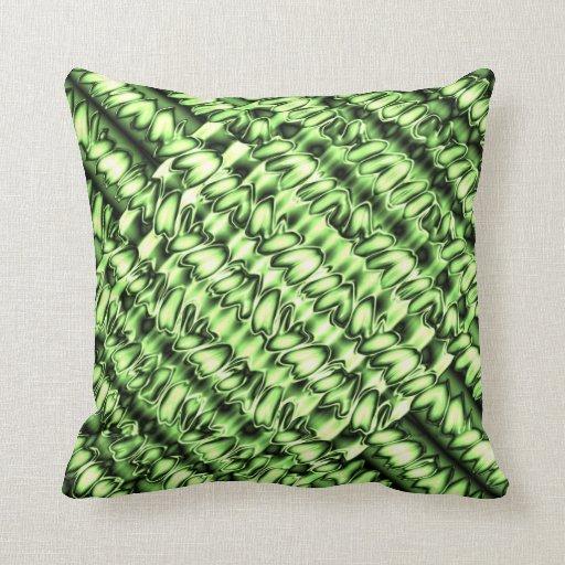 Lemon Green Throw Pillow : Lime Green & Black Satin Throw Pillow Zazzle