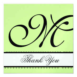 LIME GREEN & BLACK Wedding Thank You Card
