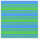 [ Thumbnail: Lime Green & Blue Colored Lines Fabric ]