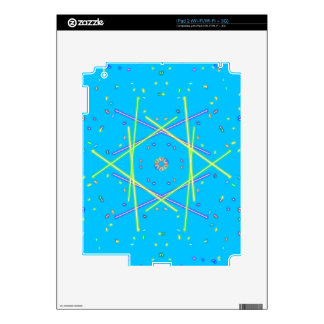 Lime Green Blue Linear Abstract Pattern Decal For The iPad 2
