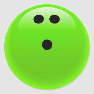 Lime Green Bowling Ball Classic Round Sticker