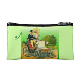 Lime Green Bridal Shower Bride Cosmetic Bag