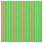 [ Thumbnail: Lime Green & Brown Colored Pattern of Stripes Fabric ]