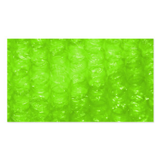 Lime Green Bubble Wrap Effect Business Card Template